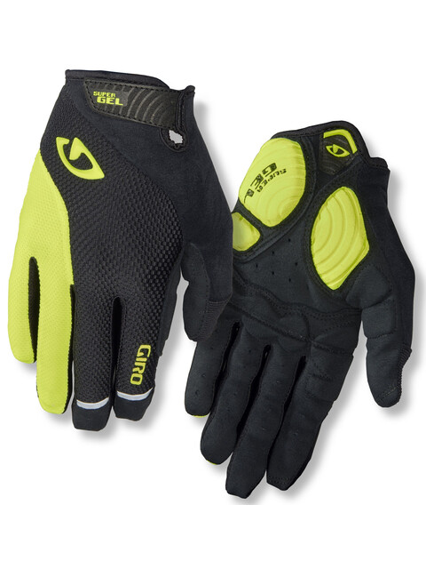 Giro Strade Dure LF Gloves Men black/highlight yellow